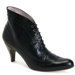 John Fluevog teapots lady grey heel booties